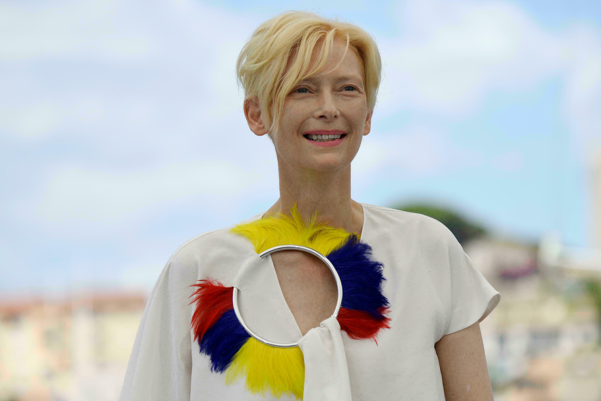 Swinton is the latest star to get involved with VR, narrating new release 'Goliath'